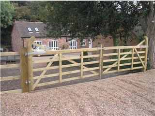 Custom made timber gate